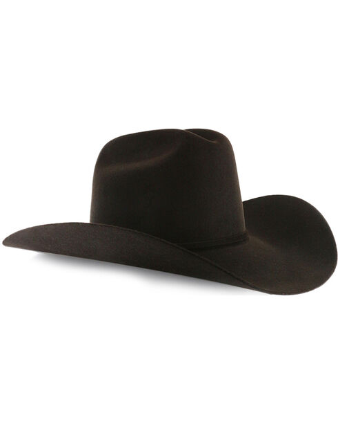 Rodeo King Men's Rodeo 5X Felt Cowboy Hat, No Color, hi-res