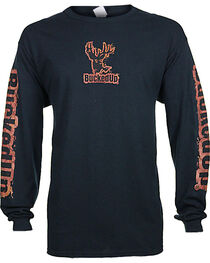 BuckedUp Men's Long Sleeve Mud Graphic T-Shirt, , hi-res