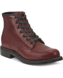 "Chippewa Men's 6"" Limited Edition Full Grain Oxblood Work Boots, , hi-res"