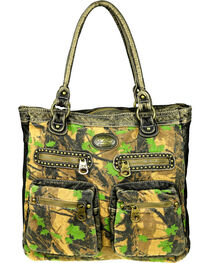 Montana West Camo Stone Washed Canvas Tote, , hi-res