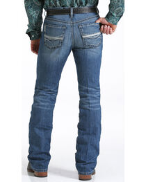 Cinch Men's Stonewash Ian Mid Rise Slim Fit Boot Cut Jeans, , hi-res
