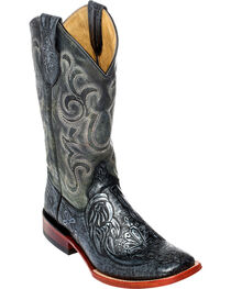 Ferrini Men's Embossed Cowboy Boots - Square Toe, , hi-res