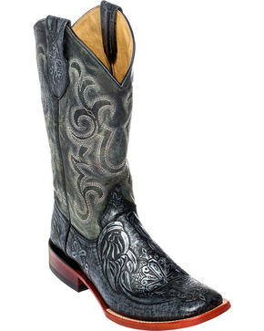 Ferrini Men's Embossed Cowboy Boots - Square Toe, Silver, hi-res