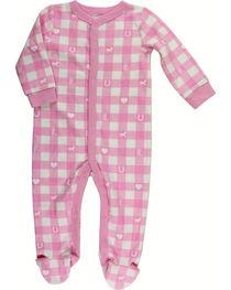 Shyanne Infant Girl's Plaid Knit Onesie, , hi-res