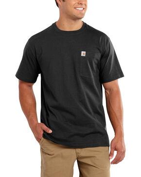 Carhartt Maddock Pocket Short Sleeve Shirt - Big & Tall, Black, hi-res