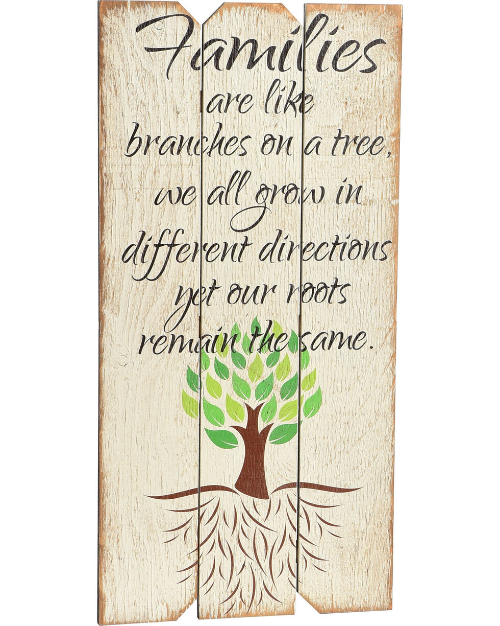 """Boulder Innovations """"Family Tree"""" Wooden Sign, White, hi-res"""