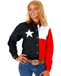 Roper Women's Texas Flag Button-Down Shirt, , hi-res