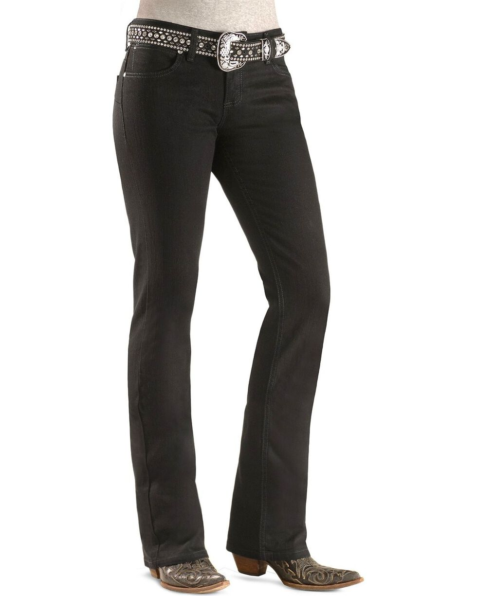 Wrangler Women's Booty Up Western Jeans, Black, hi-res