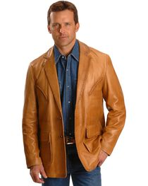 Scully Whipstitch Lambskin Leather Blazer - Reg, Tall, , hi-res