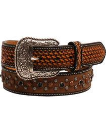 Ariat Men's Basketweave Studded Belt , , hi-res