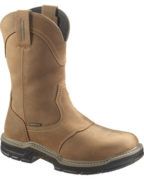 Wolverine Men's Anthem Waterproof Steel Toe Wellington Boots, Tan, hi-res