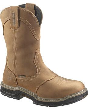 Wolverine Men's Anthem Waterproof Steel Toe Wellington Boots, Tan, hi-res