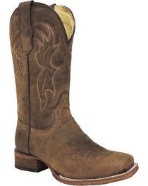 Circle G Men's Square Toe Western Boots, , hi-res