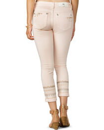 Miss Me Women's Pink Midrise Embroidered Ankle Jeans - Skinny, , hi-res