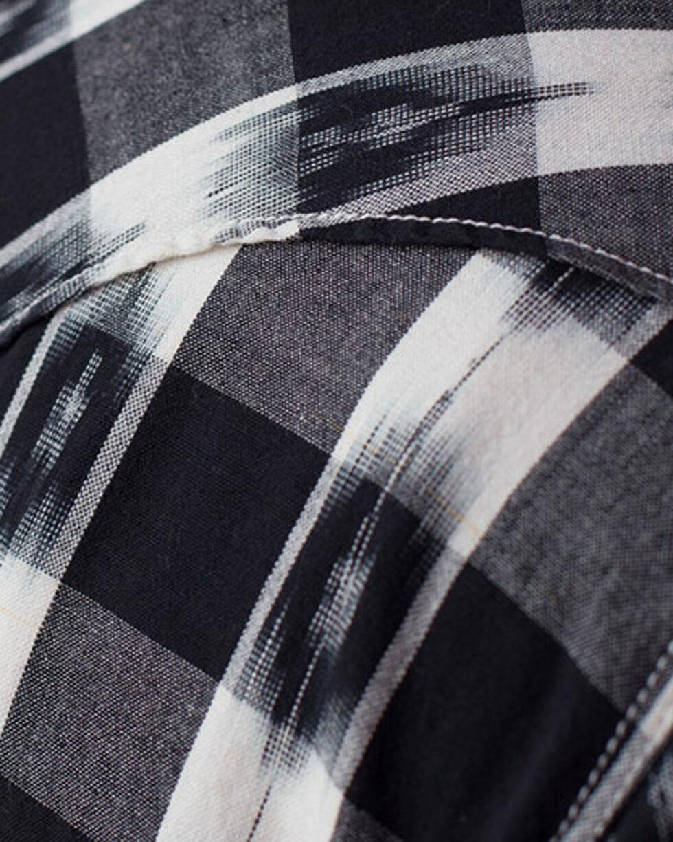 Ryan Michael Men's Ikat Gingham Shirt, Black, hi-res