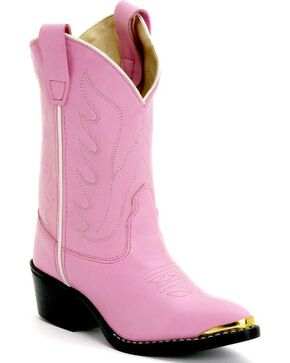 Jama Children's Cushion Comfort Western Boots, Pink, hi-res