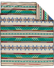 Pendleton Turquoise Ridge Pattern Blanket, , hi-res
