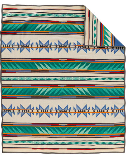 Pendleton Turquoise Ridge Pattern Blanket, Multi, hi-res