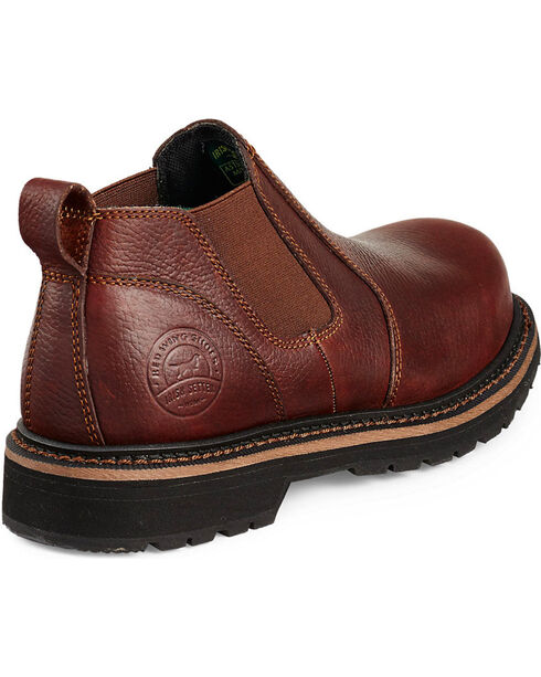 Red Wing Cass Slip-On Work Boots - Steel Toe , Brown, hi-res
