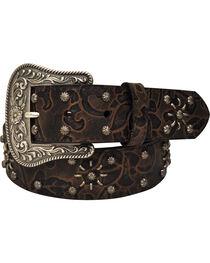 Roper Women's Brown Floral Print Belt, , hi-res