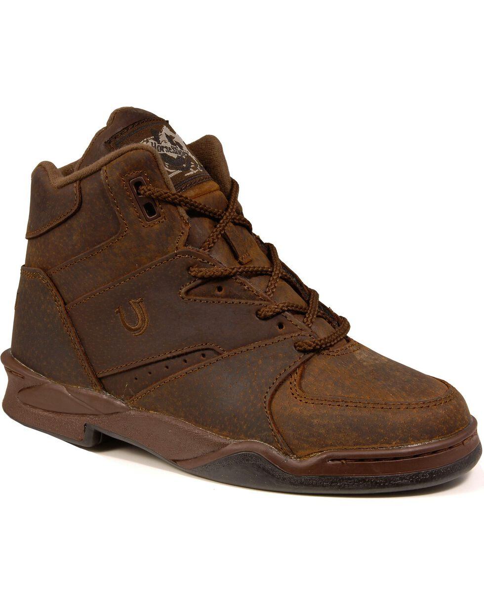 Roper Men's Athletic HorseShoes Western Boots, Tan, hi-res
