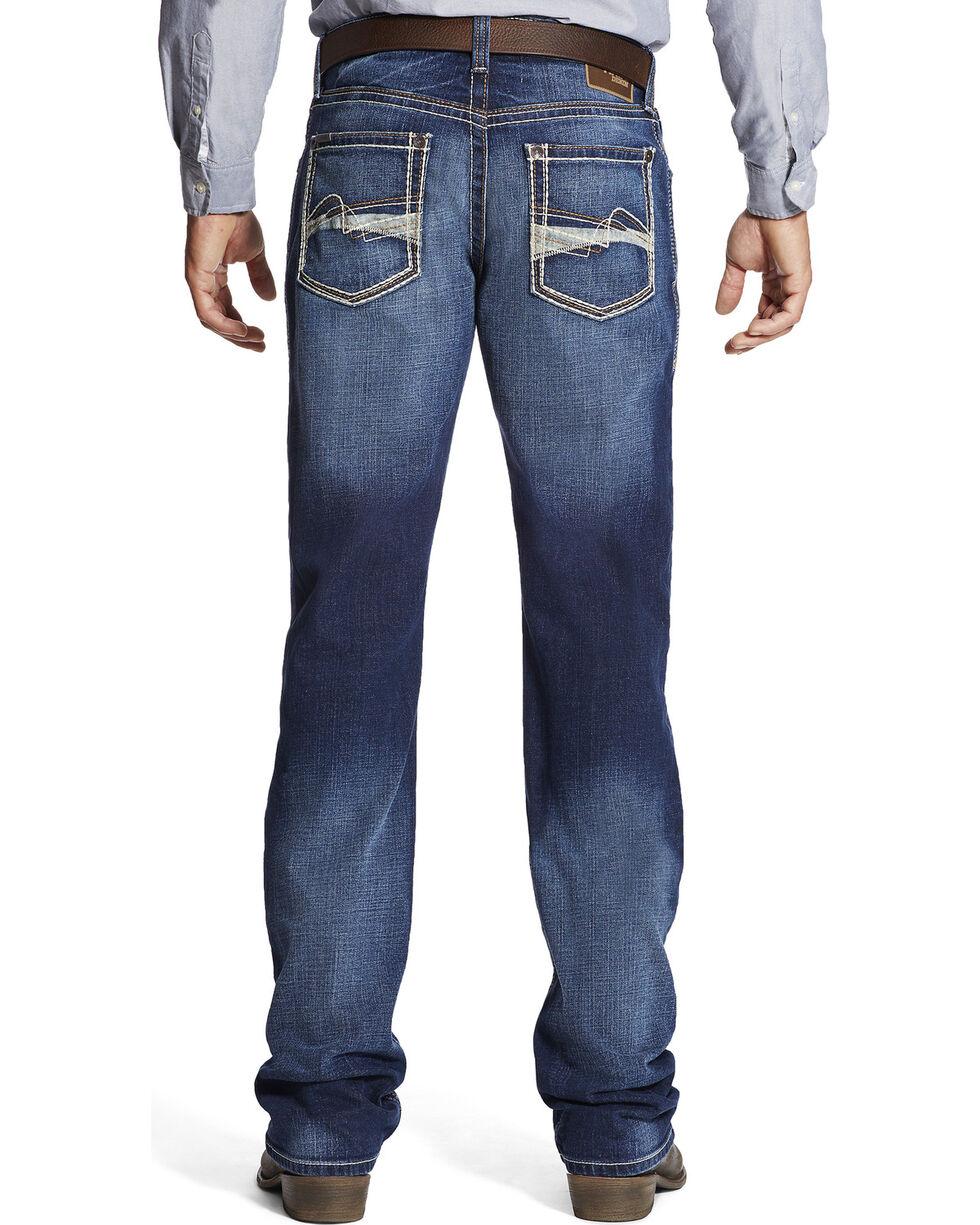 Ariat Men's M4 Whitewash Boot Cut Jeans, Indigo, hi-res