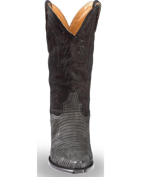 El Dorado Men's Lizard Black Cowboy Boots - Snip Toe , Black, hi-res