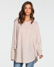 Miss Me Women's Beige Oversized Knit Top , , hi-res