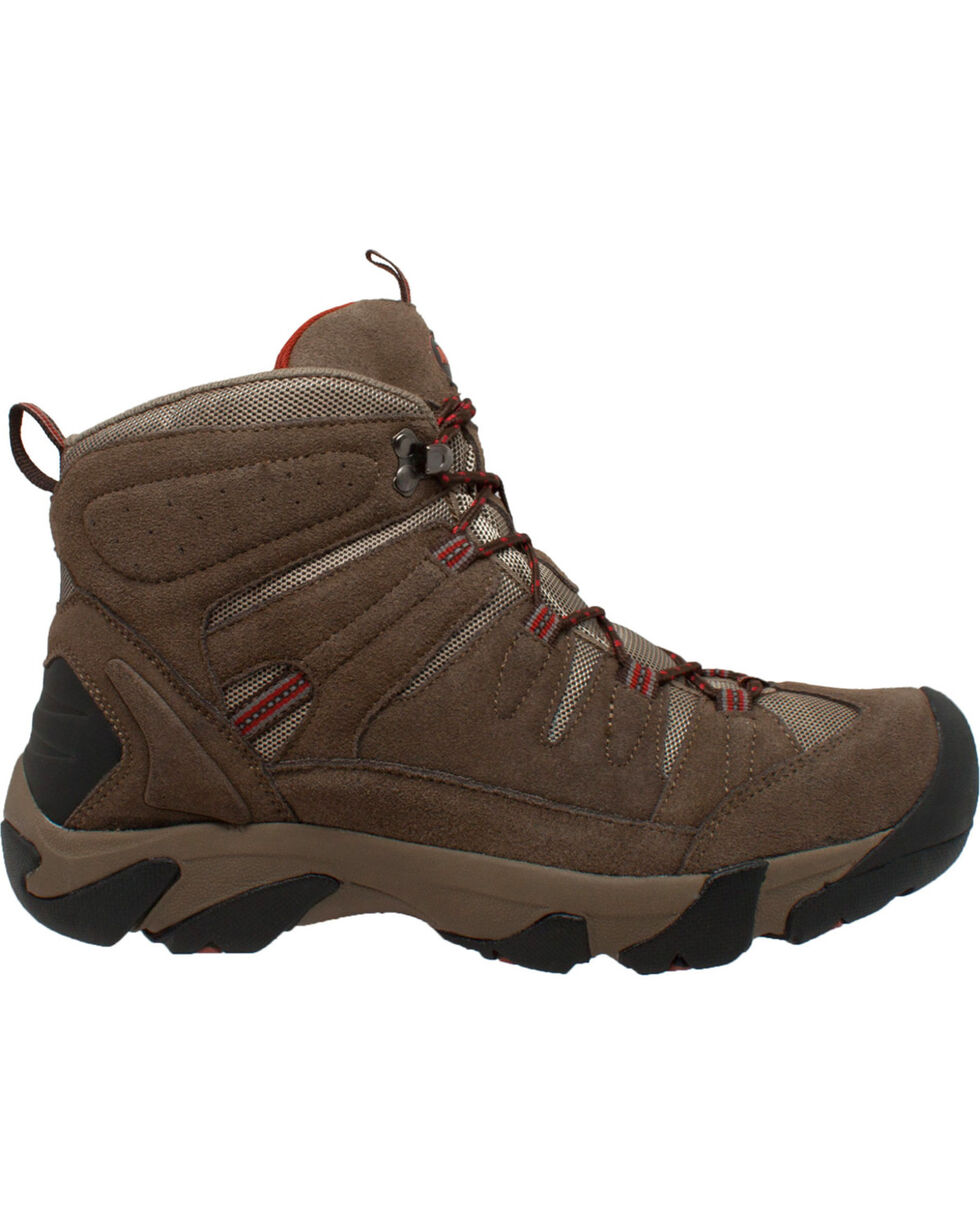 Ad Tec Men's Waterproof Brown Suede Work Hiker Boots - Comp Toe, , hi-res