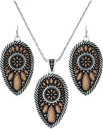 Montana Silversmiths Women's Sunset Prairie Clover Jewelry Set, , hi-res