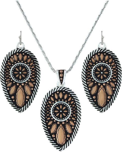Montana Silversmiths Women's Sunset Prairie Clover Jewelry Set, Silver, hi-res