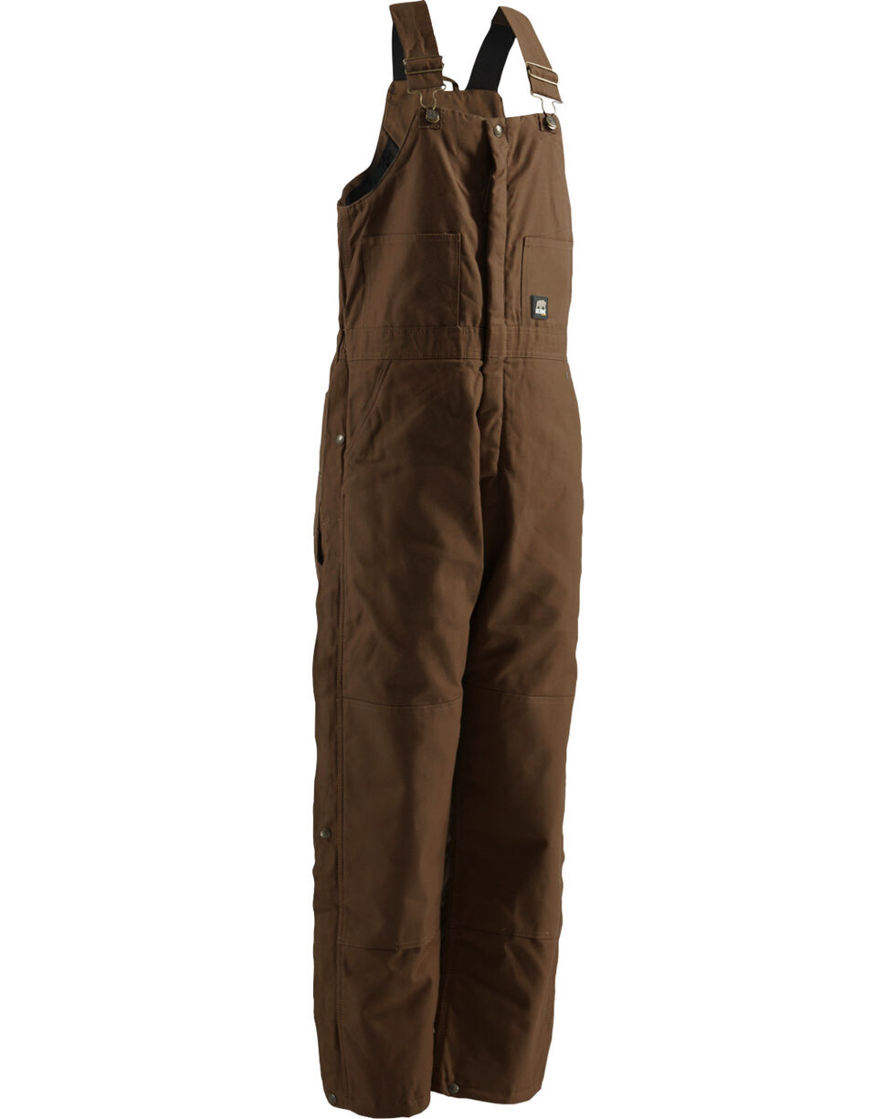Berne Light Brown Duck Deluxe Insulated Bib Overalls - Big and Tall, Dark Brown, hi-res