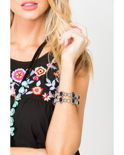 Shyanne® Women's Engraved Concho Bracelet, Silver, hi-res