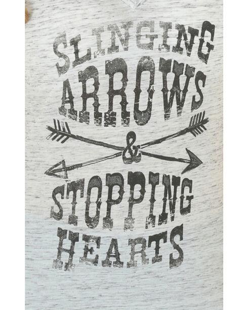 Wrangler Women's Slinging Arrows Tee, Grey, hi-res