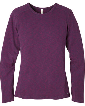 Mountain Khakis Women's Contour Crew Shirt, Burgundy, hi-res