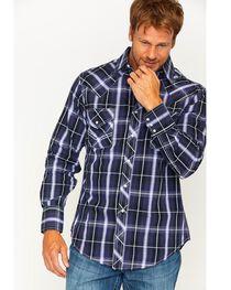 Ely 1878 Men's Textured Plaid Long Sleeve Snap Shirt, , hi-res
