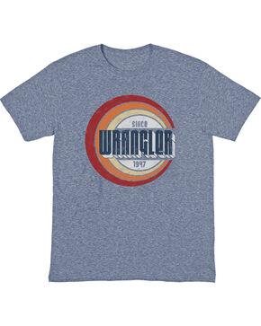Wrangler Men's Denim Heather Retro Wrangler T-Shirt , Brown, hi-res
