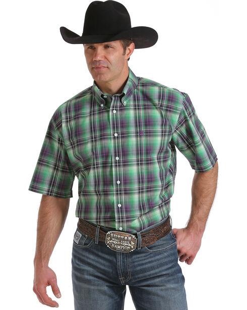 Cinch Men's Multi One Pocket Short Sleeve Plaid Shirt, Multi, hi-res