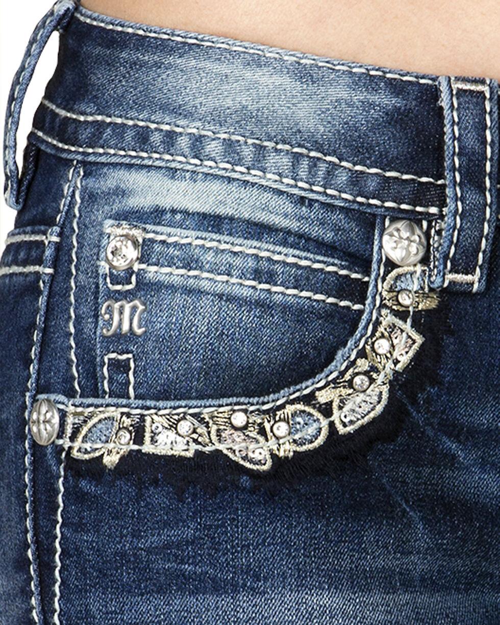 Miss Me Women's Hidden Charm Mid-Rise Cuffed Skinny Jeans, Blue, hi-res
