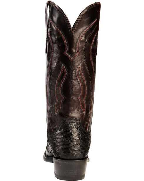 Lucchese Men's Montana Full Quill Ostrich Western Boots, Black, hi-res