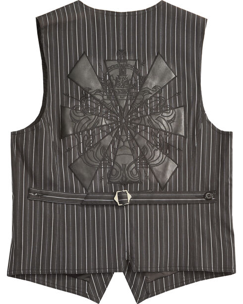 Smash Men's Pinstriped Vest, Black, hi-res