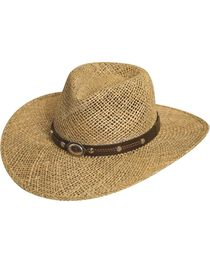 Silverado Seagrass Straw Hat, , hi-res