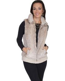 Scully Women's Sand Faux Fur Zip Vest, , hi-res
