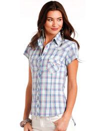 Panhandle Women's Plaid Short Sleeve Shirt, , hi-res
