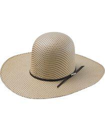 Tony Lama Open Crown Spotted Sheridan Straw Cowboy Hat, , hi-res