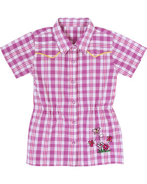 All Around Baby by Wrangler Toddler Girl's Western Dress, Pink, hi-res