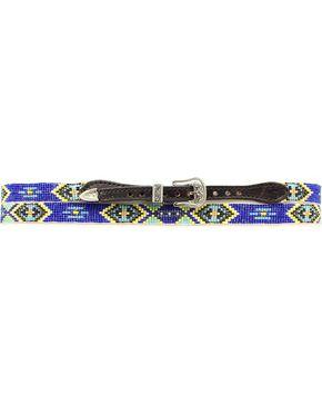 Aztec Beaded Hat Band, Black, hi-res