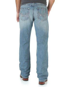 Wrangler Rock 47 Men's Grunge Boot Cut Jeans - Slim Fit, Denim, hi-res