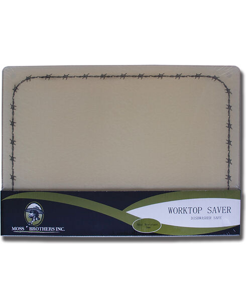 Moss Brothers Barbwire Glass Cutting Board , Tan, hi-res