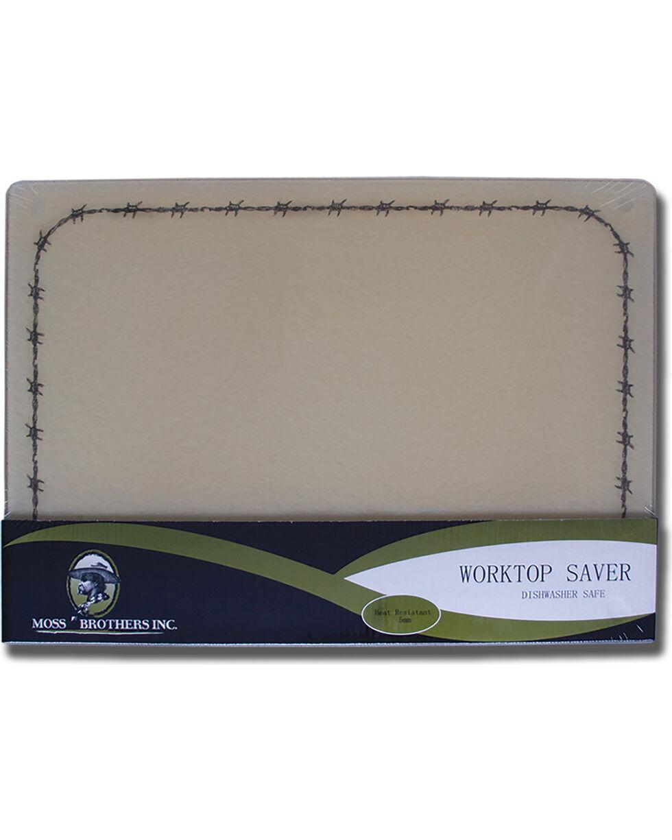 Moss Brothers Barbwire Glass Cutting Board , Tan, hi-res